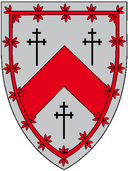 St. Salvator's Hall heraldic shield