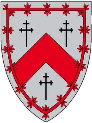 St Salvator's Hall - St. Salvator's Hall heraldic shield