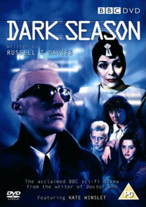 Dark Season - Dark Season DVD cover, showing Eldritch on the left, and (from top to bottom) Pendragon, Marcy, Tom and Reet on the right