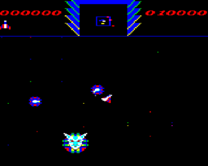 Deathstar (video game) - In-game screenshot (BBC Micro)