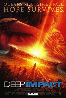 <i>Deep Impact</i> (film) 1998 science fiction film directed by Mimi Leder