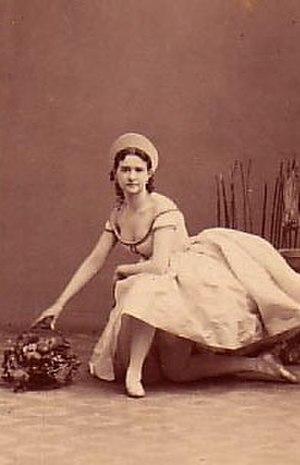 Le diable à quatre (ballet) - Image: Diable A Quatre Mazourka Marie Surovshchikova Petipa 1861 2 cropped