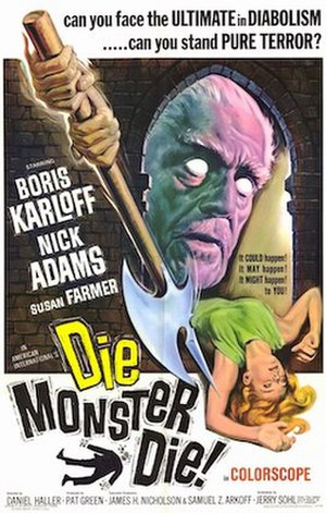 Die, Monster, Die! - Theatrical release poster with artwork by Reynold Brown