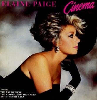 Cinema (Elaine Paige album) - Image: Elaine Paige Cinema