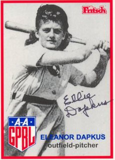 Eleanor Dapkus All-American Girls Professional Baseball League player