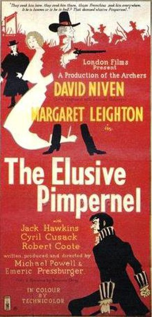 The Elusive Pimpernel - Theatrical poster