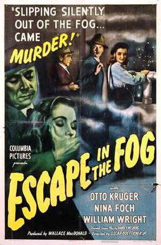 Escape in the Fog - Theatrical release poster