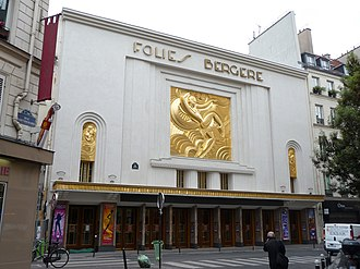 Folies Bergère - 2013, after renovation of facade (originally created in 1926)