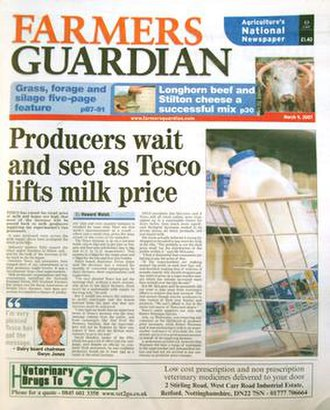 Farmers Guardian - Image: Front page of paper March 07