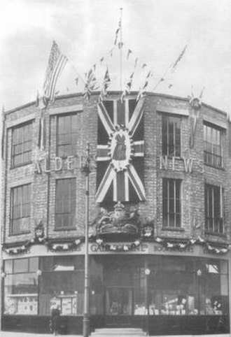 Gale & Polden - Gale and Polden's Aldershot works decorated for the Coronation of Queen Elizabeth II in 1953