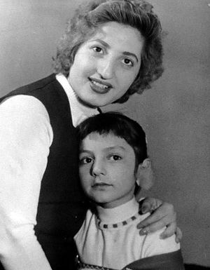Googoosh - 4-year-old Googoosh with her mother Nasrin Atashin