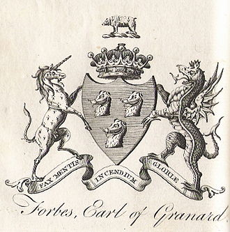 George Forbes, 6th Earl of Granard - Earl of Granard coat of arms