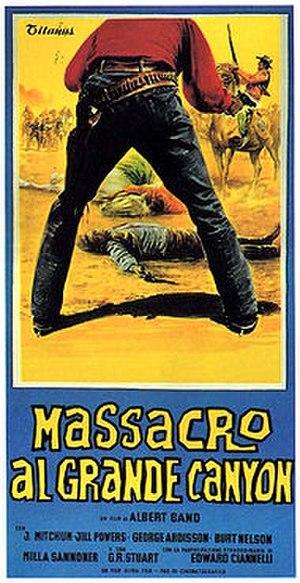 Grand Canyon Massacre - Italian film poster