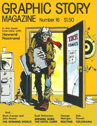 Howard Nostrand - This 1974 magazine cover was Nostrand's first humorous horror art since his stories for Harvey Comics' Flip in the early 1950s.