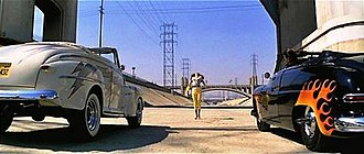 Grease (film) - The car race in the film took place at the Los Angeles River.