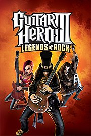 Slash on the cover of Guitar Hero III.