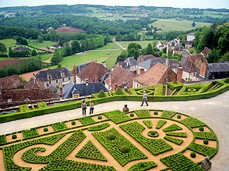 Hautefort - Village of Hautefort from the château.