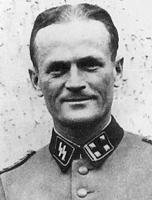 Helmuth Raithel wearing Waffen-SS uniform