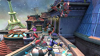 PlayStation Move Heroes - Sly Cooper attacking enemies