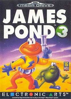 Sega Mega Drive cover art of James Pond 3: Operation Starfish