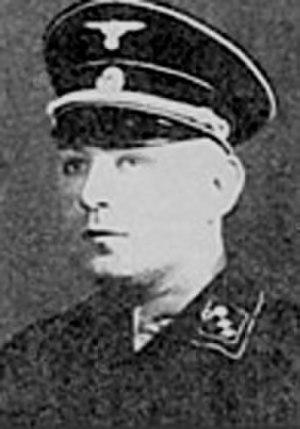 Karl Steubl - Sturmbannführer Karl Steubl (Steubel)  before his 1945 suicide