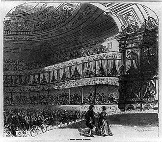 Winter Garden Theatre (1850) - Laura Keene's Variety Theatre, 1856