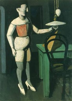 Mario Sironi - La lampada, 1919, oil on canvas, 78 x 56 cm, Pinacoteca di Brera, Milan