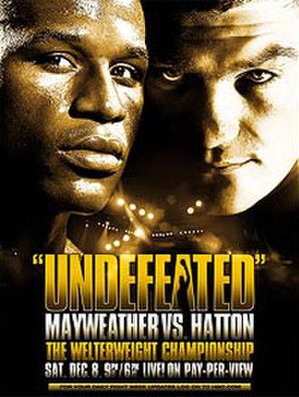 Floyd Mayweather Jr. vs. Ricky Hatton - Image: Mayweather vs Hatton poster