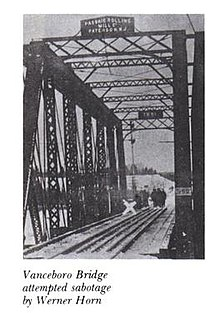 The bridge after the sabotage