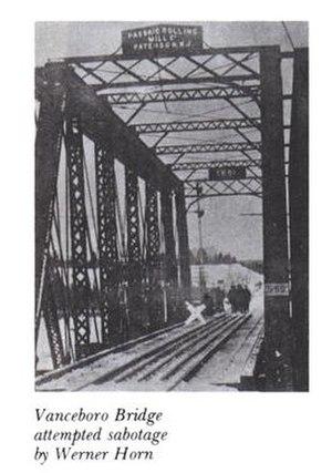 The bridge after the sabotage.