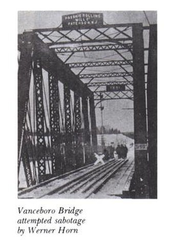 1915 Vanceboro international bridge bombing - The bridge after the sabotage