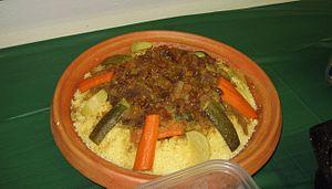 Moroccan cuisine - Moroccan couscous
