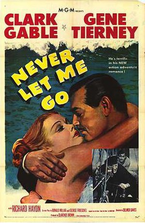 Never Let Me Go (1953 film) - Theatrical release poster
