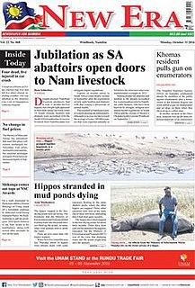 <i>New Era</i> (Namibia) Namibian newspaper