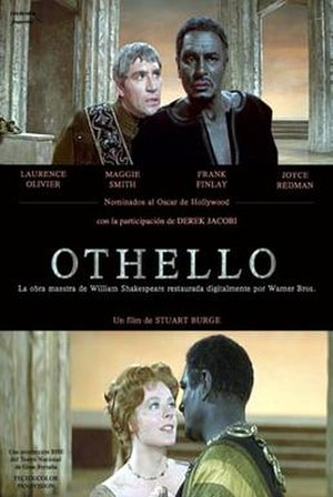 Othello (1965 British film) - Image: Othello (1965 movie poster)