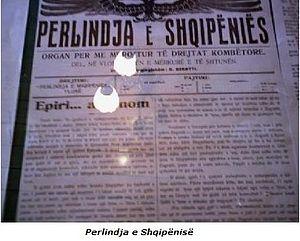 Albanian Declaration of Independence - The newspaper Përlindja.