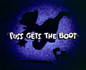 Puss Gets the Boot - Title card