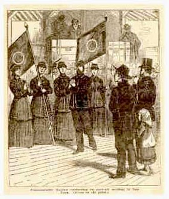 George Scott Railton - Railton and the 'Hallelujah Lassies' in New York in 1880