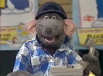 Roland Rat - Roland Rat on TV-am, where he first rose to fame.