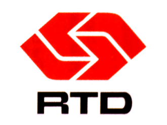 Southern California Rapid Transit District - RTD logo from 1980 to 1993