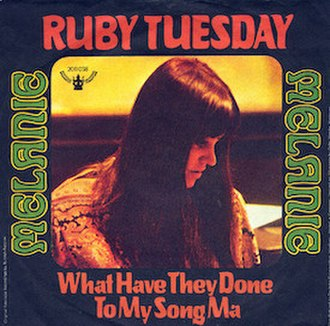 Ruby Tuesday (song) - Image: Ruby Tuesday Melanie