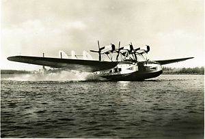 Ala Littoria -  A Savoia-Marchetti S.66 seaplane of the airline.