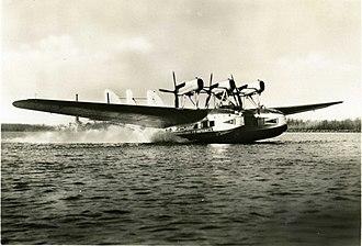 Ala Littoria -  A Savoia-Marchetti S.66 seaplane of the airline.