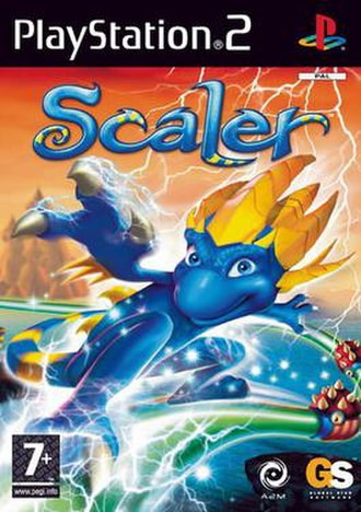 Scaler (video game) - PAL region PS2 cover art