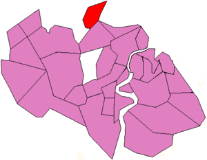 Chilworth, Hampshire - Map showing Chilworth in relation to Southampton