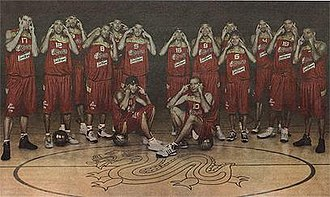 Concerns and controversies at the 2008 Summer Olympics - The Spanish basketball team posing with 'slit-eyes'