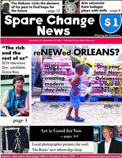 Spare Change News frontpage, 14 September 2006.jpg