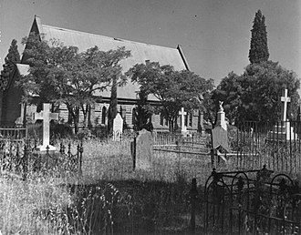 East Perth Cemeteries - St. Bartholomew's Church. c.1940; image is of the Western side