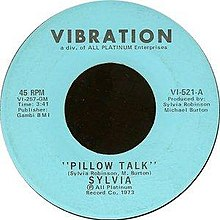 Pillow Talk Song Wikipedia