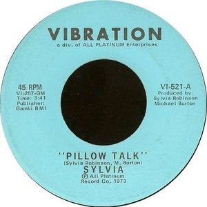 Pillow Talk (song) - Image: Sylvia Pillow Talk single cover